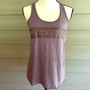 Novelty tank top Young & Reckless  grey small S